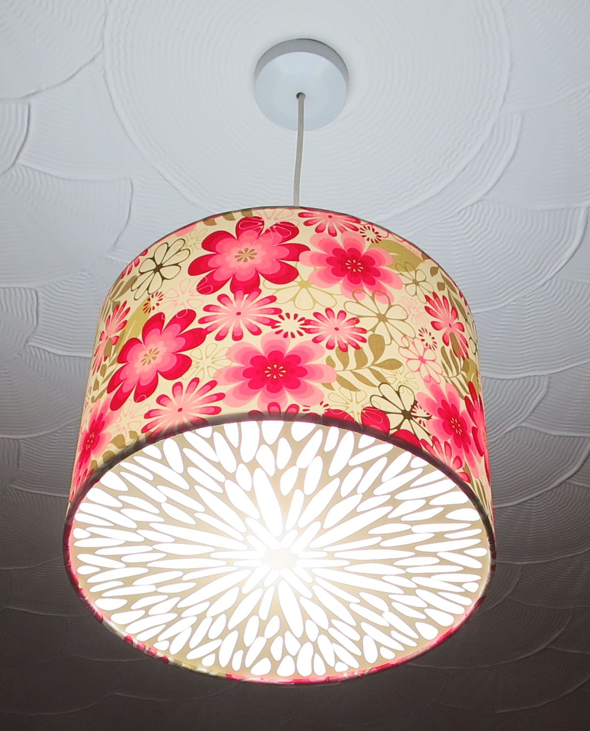 20cm Lampshade Diffuser Floral 2 part set